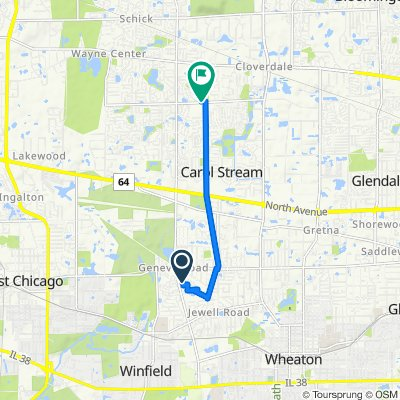 Relaxed route in Carol Stream