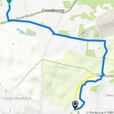Abingdon Road, Sandhurst to Edgcumbe Park Drive, Crowthorne