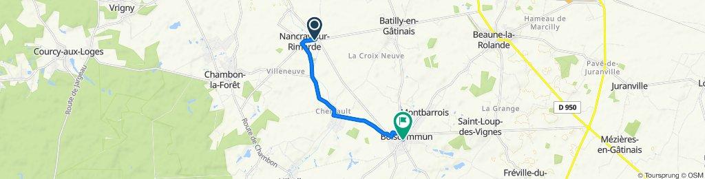 De 70B Rue Jules César, Nancray-sur-Rimarde à Place Prouteau, Boiscommun