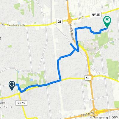 Restful route in Selden