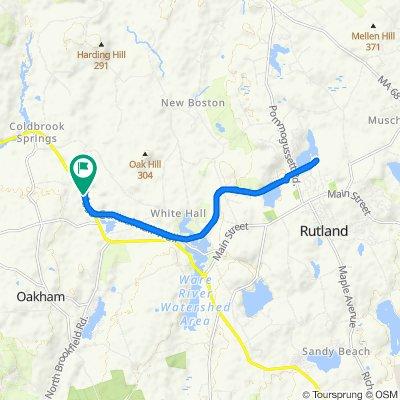 Worcester Rd, Oakham to Worcester Rd, Oakham
