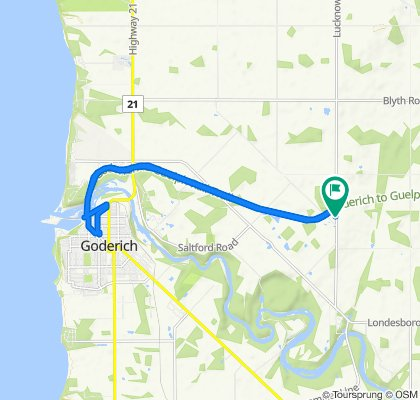 Relaxed route in Ashfield-Colborne-Wawanosh