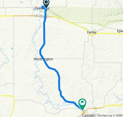 Beltline Rd, Dyersville to 743 Johnson St NW, Cascade