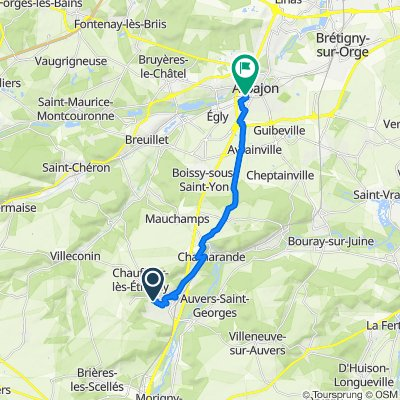 De 50bis Route de Vaucelas, Etréchy à 3 Avenue de la République, Arpajon