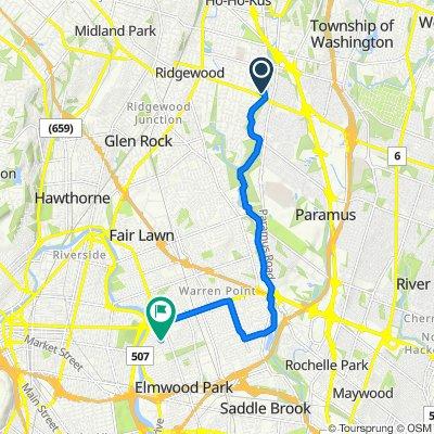 1133 E Ridgewood Ave, Ridgewood to 144 Donor Ave, Elmwood Park