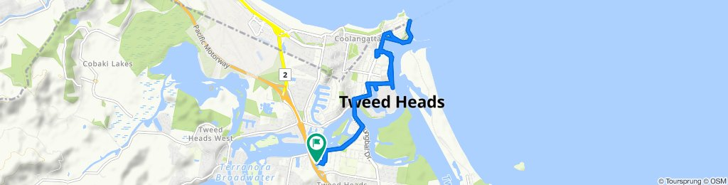 Restful route in Tweed Heads South