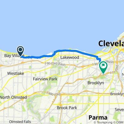 408 Huntmere Dr, Bay Village to 4907 Denison Ave, Cleveland