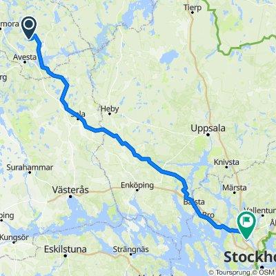 Dalkarshyttansvägen, Fors to Sollentunavägen 165A, Sollentuna