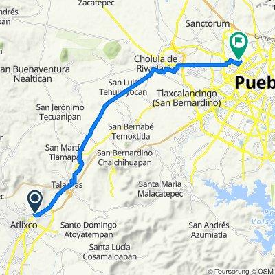 De Gladiolas 3, Atlixco a Hermanos Serdan - Macuquina, Heroica Puebla de Zaragoza