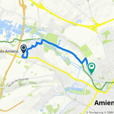 Restful route in Amiens