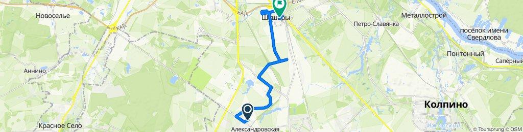 От улица Третьей Пятилетки, 6–16, Пушкин до Первомайская улица, 5к1, Санкт-Петербург