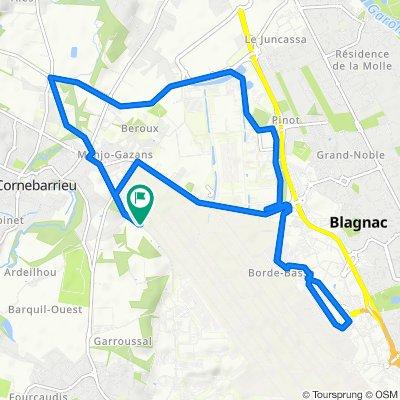 Restful route in Cornebarrieu
