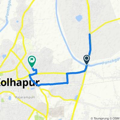 Service Road, Kolhapur to Subhedar Ramji Ambedkar Road, Kolhapur