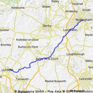 Lichfield to Nottingham