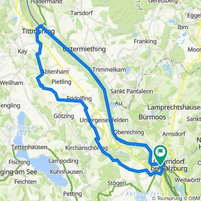 Radltour Laufen bei Salzburg