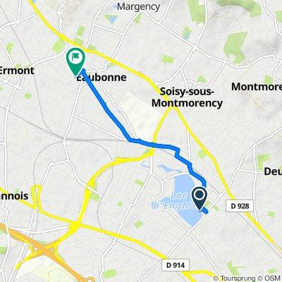 De 1 Avenue de la Ceinture, Enghien-les-Bains à 14 Rue George V, Eaubonne