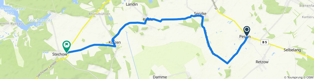 Sporty route in Stechow-Ferchesar