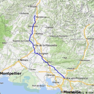 Montélimar - Aix-en-Provence