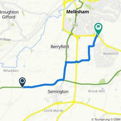 Route to 397–402 Bath Road, Melksham