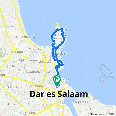 Supersonic route in Dar es Salaam