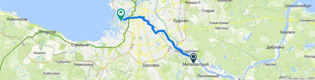 От Садовая улица 2, Санкт-Петербург до Шотландская улица 8, Санкт-Петербург