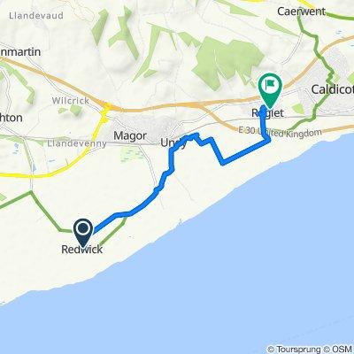Restful route in Caldicot