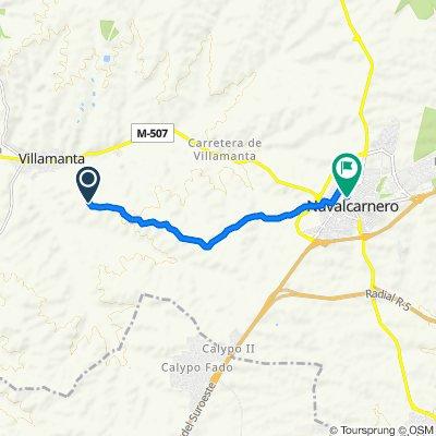 De Cañada Real Segoviana, Villamanta a Calle de El Escorial 44, Navalcarnero