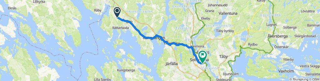 Route to Idunvägen 4, Sollentuna
