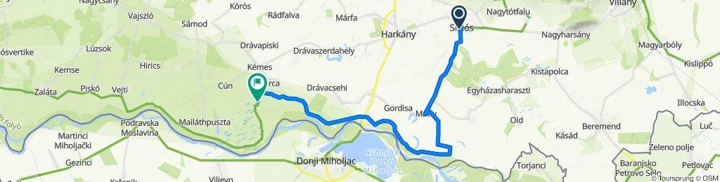 Vajda János tér 9, Siklós to Unnamed Road, Szaporca