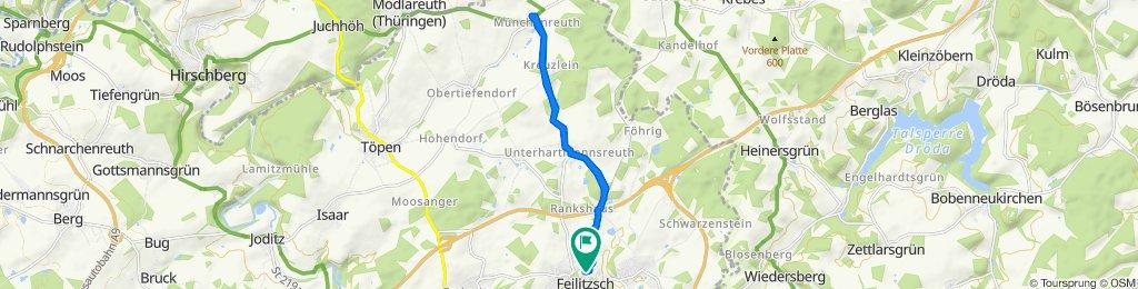 Relaxed route in Feilitzsch