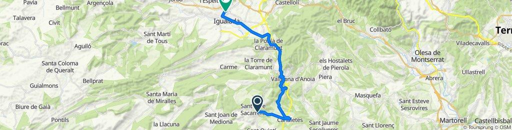 Easy ride in Igualada