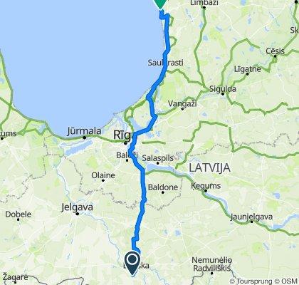 Route to Liedaga iela, Liepupe