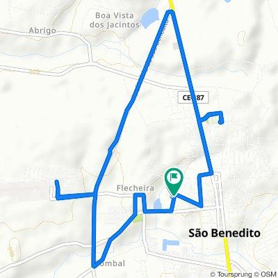 De Rua Ritinha Filizola Vasconcelos, 261–417, São Benedito a Rua Achiles Barreto, 2–46, São Benedito