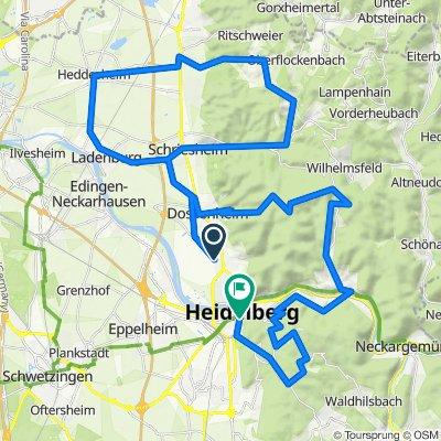 Drei Zacken um Heidelberg