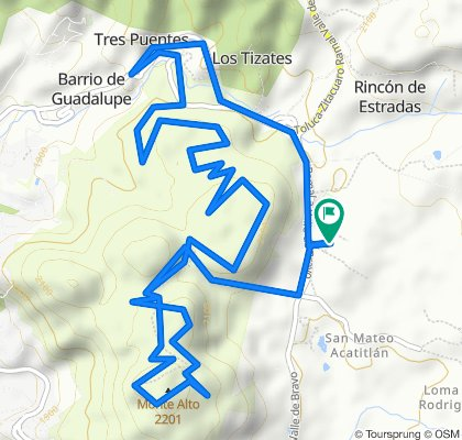 Moderate route in Valle de Bravo