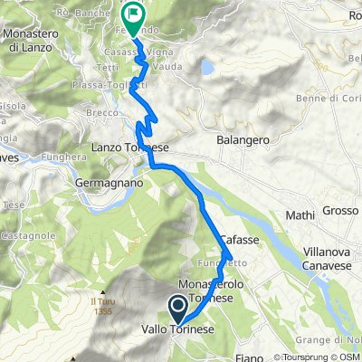 Restful route in Coassolo Torinese