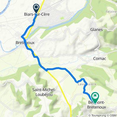 De Rue de la Gare 5, Biars-sur-Cère à Belmont, Belmont-Bretenoux