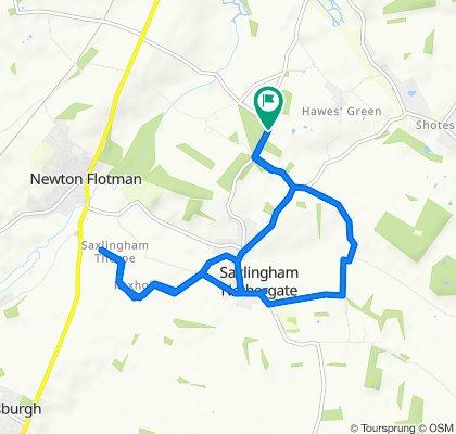 Restful route in Norwich