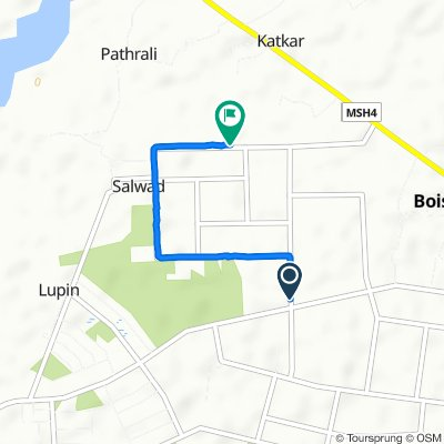 Navapur Road, Boisar to Unnamed Road, Boisar