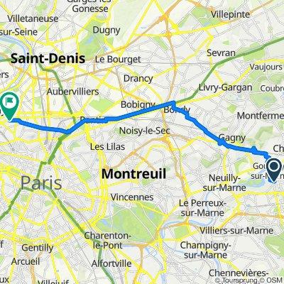 De 6–34 Avenue Aristide Briand, Gournay-sur-Marne à 66B Rue Pouchet, Paris