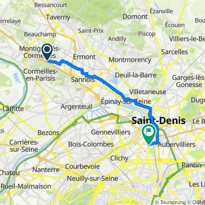 De Rue du Général Leclerc 312, Franconville à Rue du Landy 136, Saint-Ouen