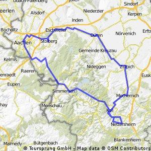 Nettersheim-Urftalsperre-Aachen-Düren-Zülpich