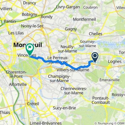 Itinéraire modéré en Vincennes