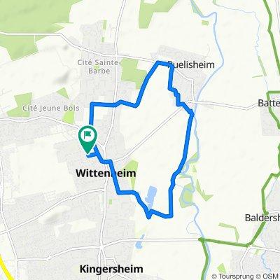Boucle Wittenheim-Ruelisheim 9km