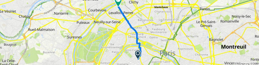 Easy ride in Levallois-Perret