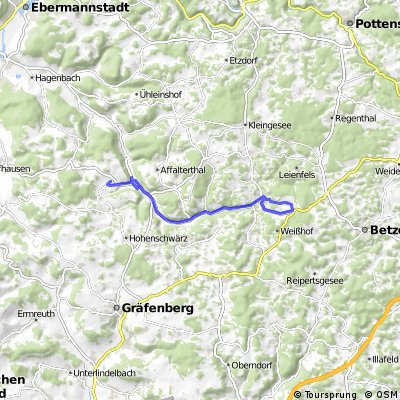 Radstrecke Egloffsteiner Triathlon
