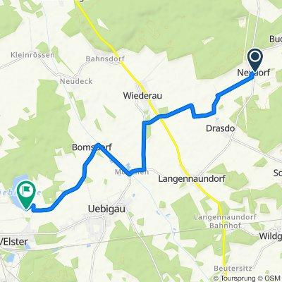 Nexdorfer Dorfstraße 9, Doberlug-Kirchhain nach Hörsteweg 11, Falkenberg/Elster