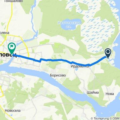 Moderate route in Череповец