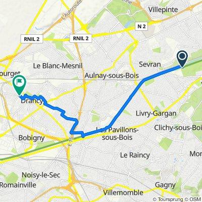 Itinéraire modéré en Drancy