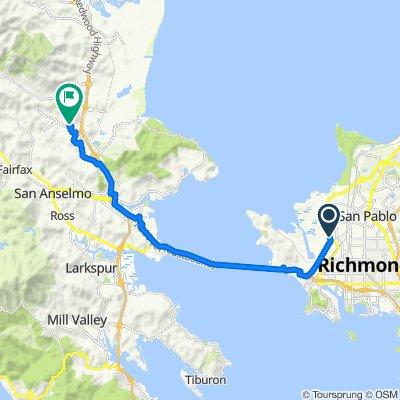 Richmond Pkwy, Richmond to 355 Holly Dr, San Rafael